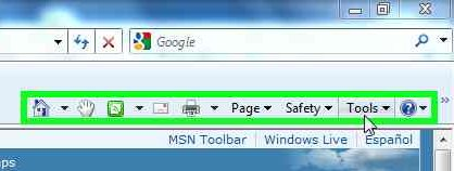 Internet Explorer - Tools