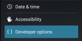 Enable Developer Options Android 4.3